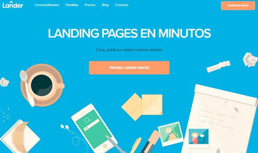 Landing Pages con Lander
