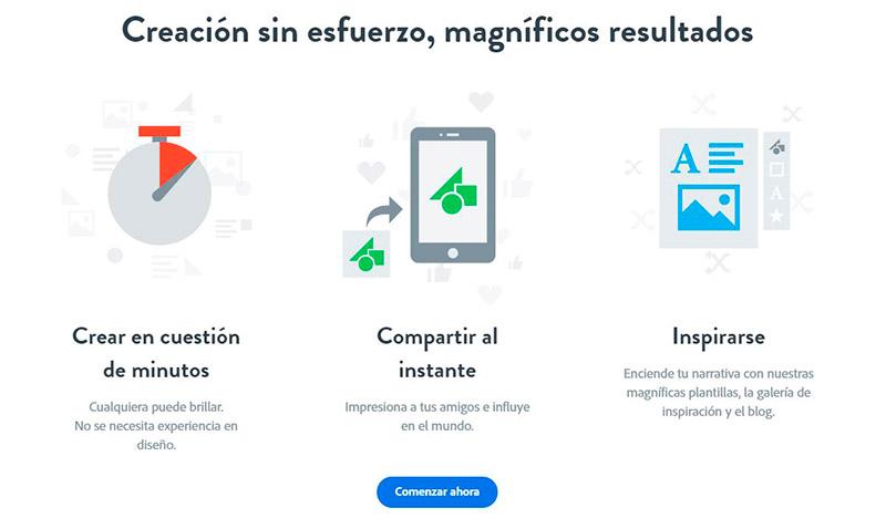Adobe Spark para creatividades en redes sociales