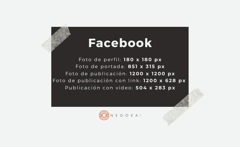 Medidas imágenes Facebook