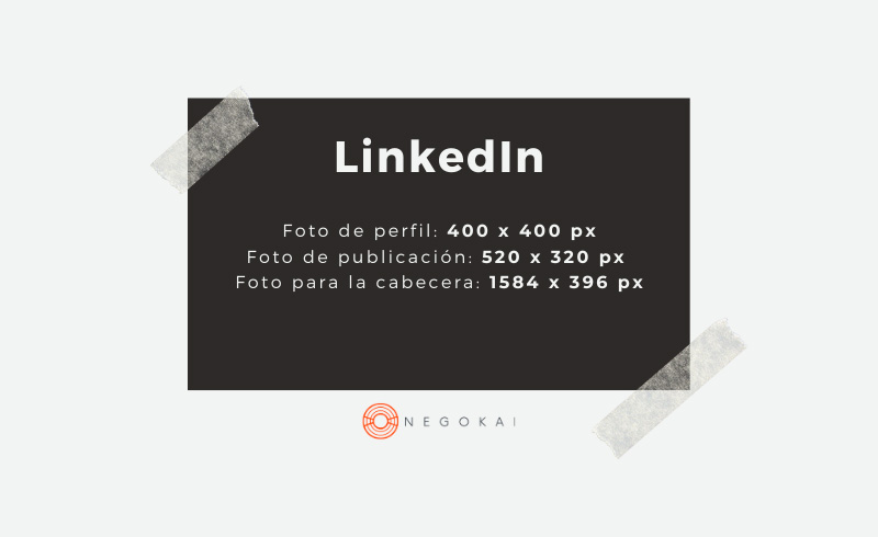 Medidas imágenes LinkedIn