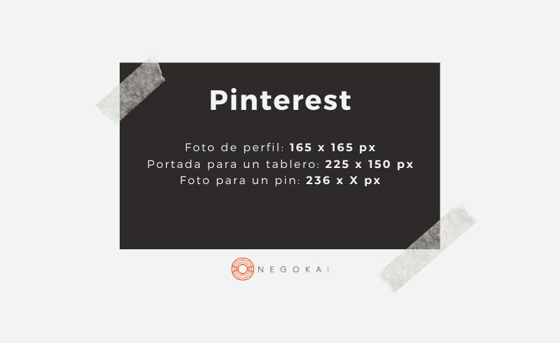Medidas imágenes Pinterest
