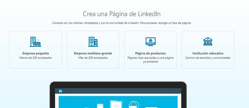 Beneficios página producto linkedIn