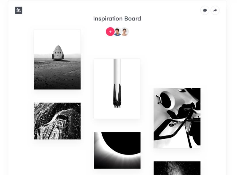 Invisión, app para crear moodboards