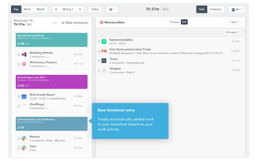 Timely, app para el control del tiempo en el trabajo